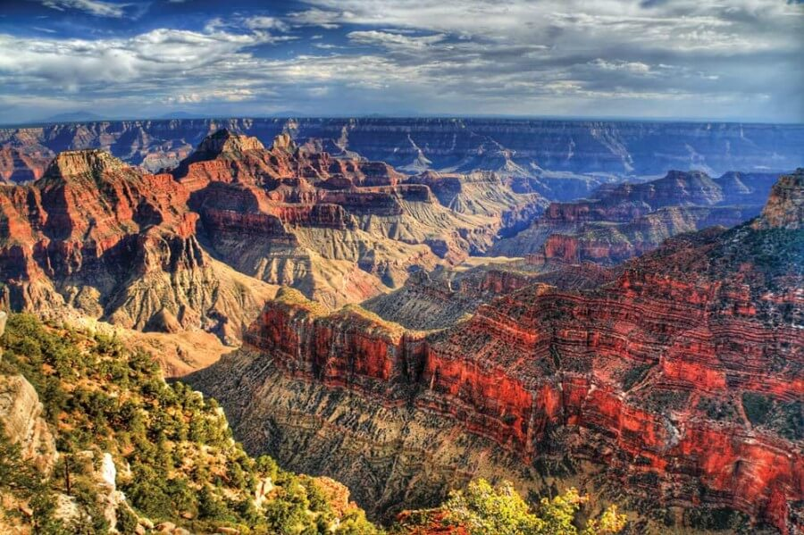 The Grand Canyon showing layers of the Earth's stratum history.
