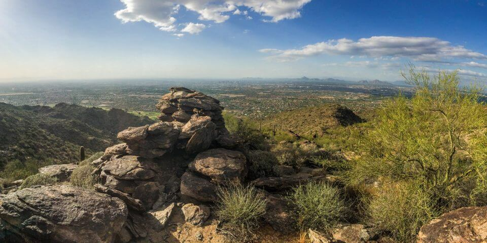 South Mountain looking over the city of Phoenix.
