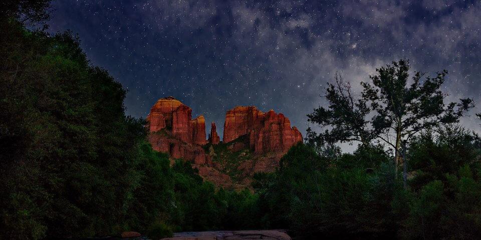 Stargazing in Arizona is most breathtaking in Sedona.