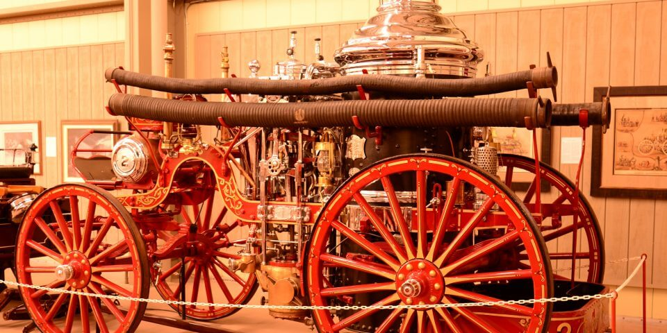 An old fire engine at the Hall of Flame Fire Museum in Phoenix, Arizona.
