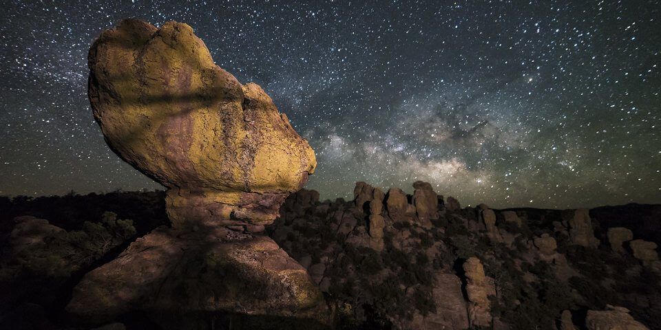 The Chiricahua Mountains are the perfect place for stargazing in Arizona.