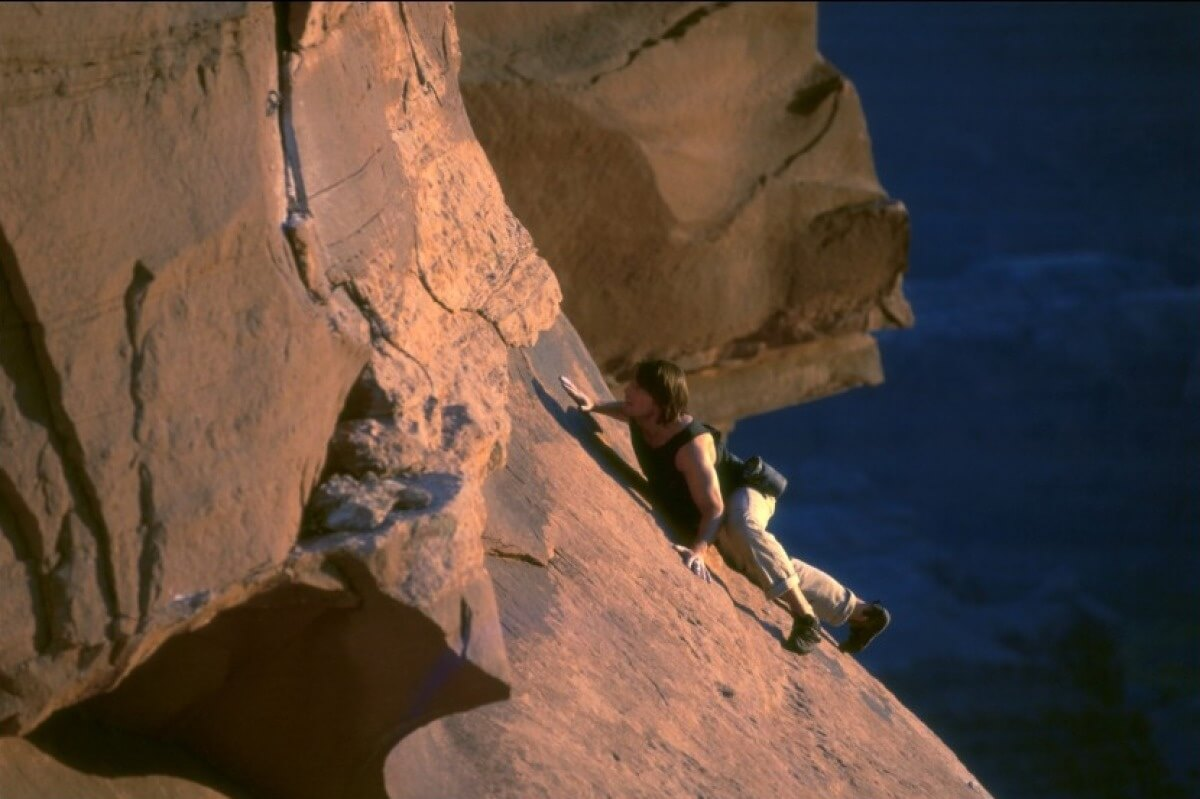 Tom Cruise rock-climbs in Mission Impossible II. A Monument Valley movie.