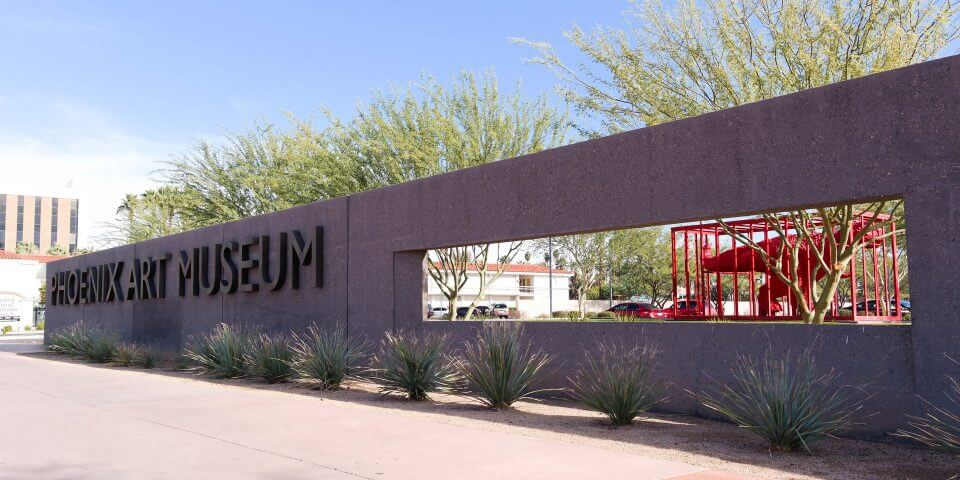 The exterior sign of the Phoenix Art Museum.