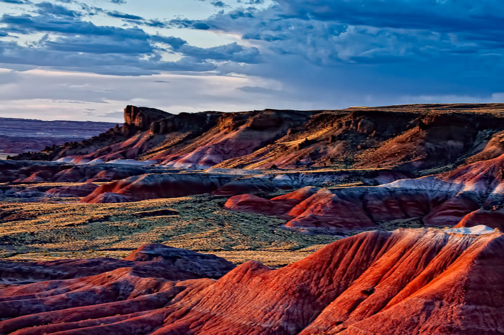 Aerial shot of the Painted Desert.