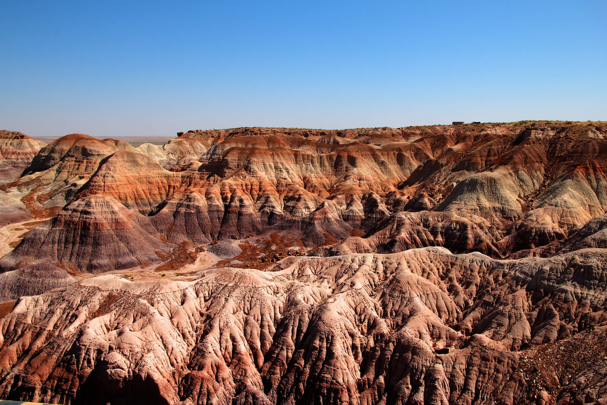 Mountainous rock formations abound on the Painted Desert.