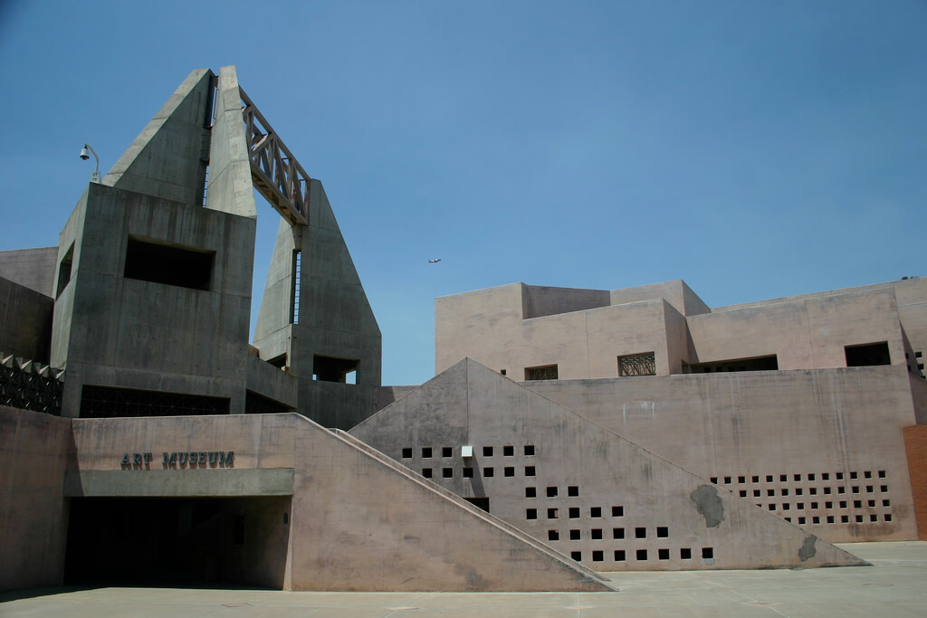 Exterior shot of the Arizona State University Art Museum in Tempe. Flickr User C.W. Robertson