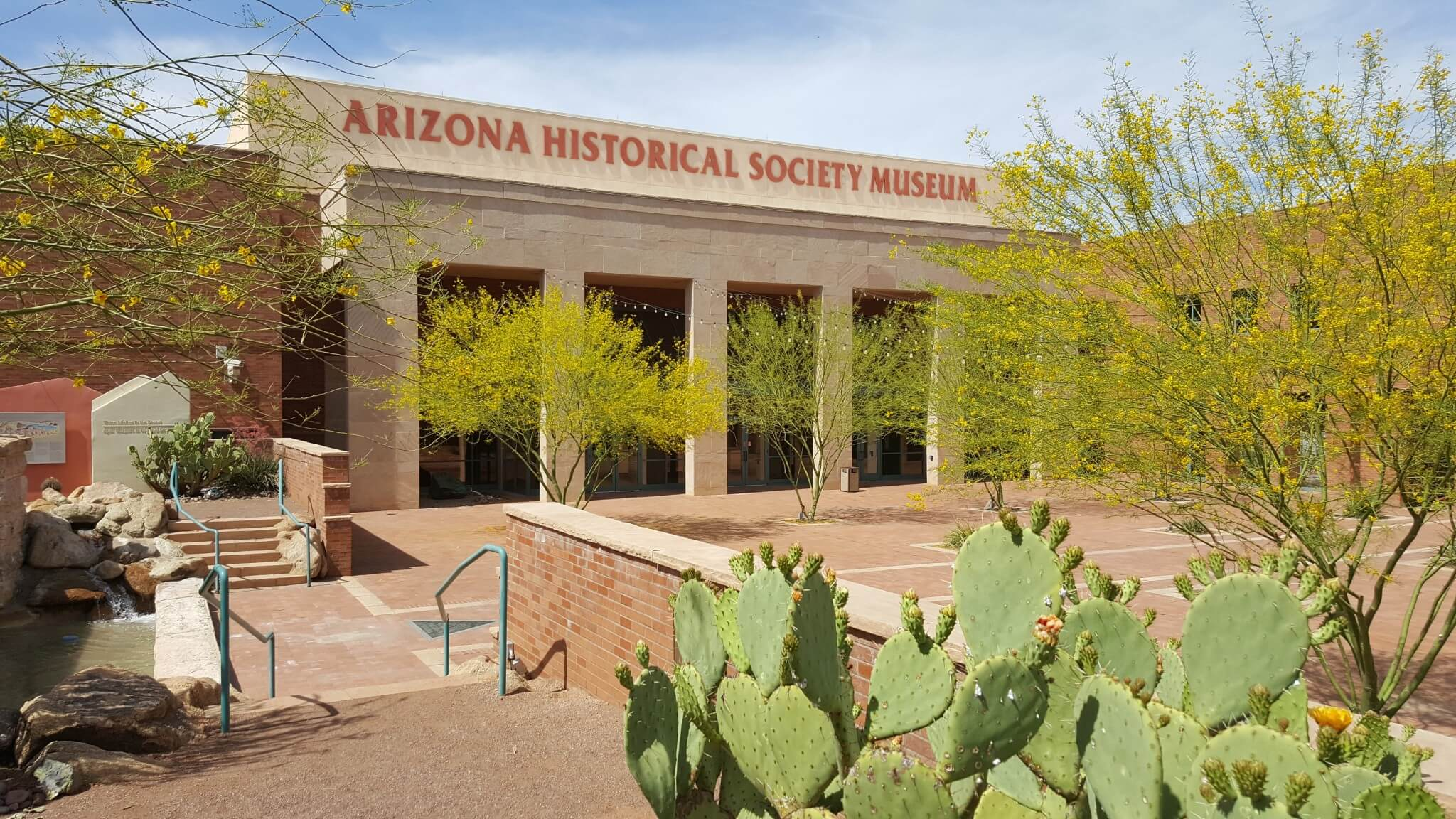 The front of the Arizona Historical Society Museum at the Arizona Heritage Center in Tempe. arizonahistoricalsociety.com