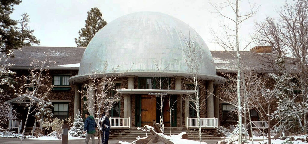 Visiting the front of the Lowell Observatory is one of the many things to do in Flagstaff. Flickr User Robin