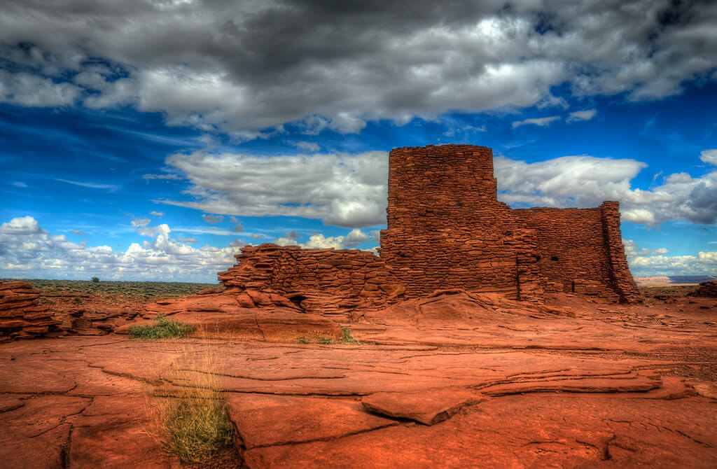 Wukoki Pueblo and Crack-in-the-Rock Pueblo. Flickr User Wayne Stadler