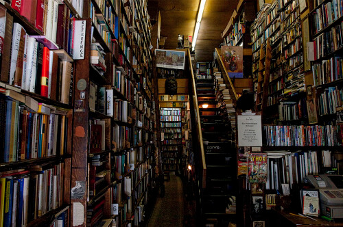 Interior shot of Westsider Books. One of New York's historic places. theloveofliterature.tumblr.com