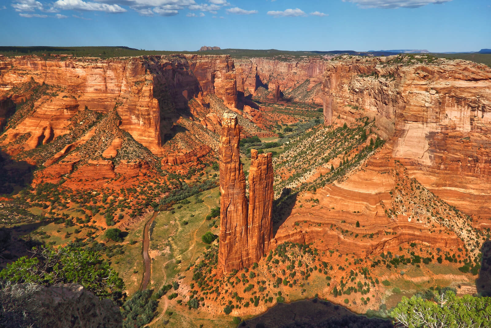 Aerial shot of Canyon de Chelly. Looking down on Spider Rock.  Flickr User RH&XL