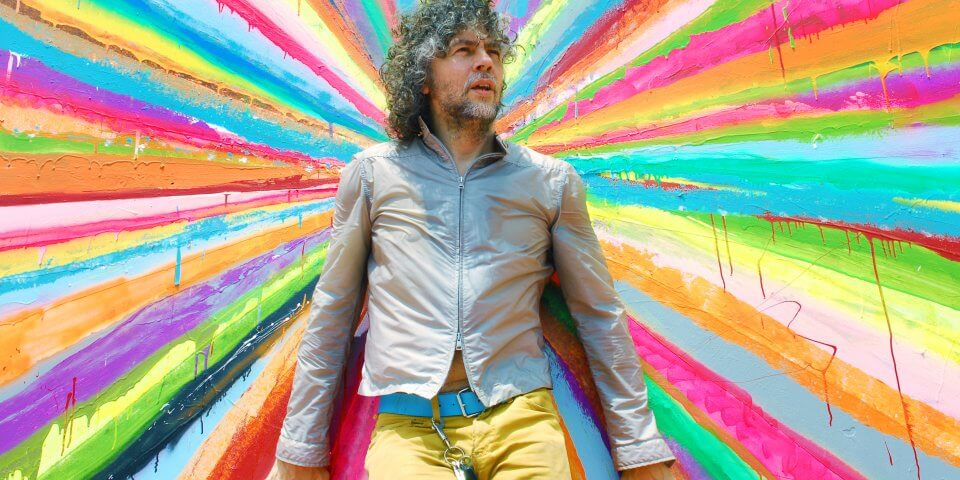Wayne Coyne of The Flaming Lips outside The Womb