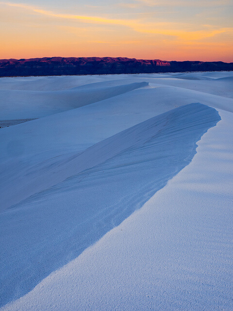 White Sands National Monument at Sunrise - Photo by Beau Rogers