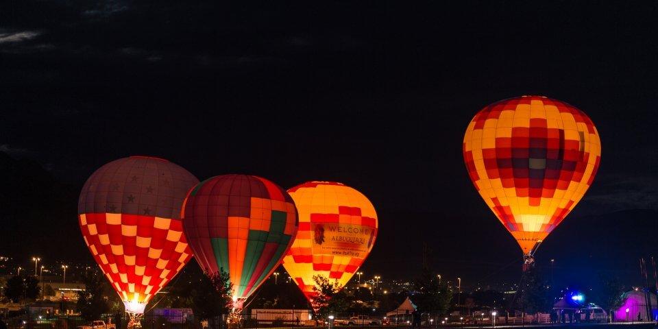 The International Hot Air Balloon Festival in Albuquerque, New Mexico - Photo by Diana Robinson