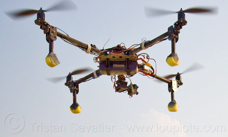 Quadcopter - UAV - Remote Controlled Drone with Video Camera - Photo by Loupiote