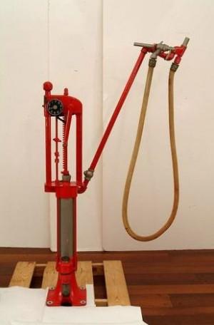 The first gasoline pump.