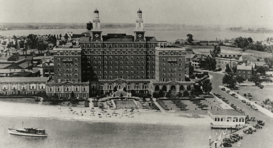 The Chamberlain Hotel during the 1930s - Photo courtesy of virginiaplaces,org