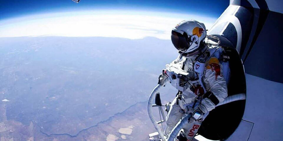 Felix Baumgartner's Freefall - Photo courtesy of Extreme Tech