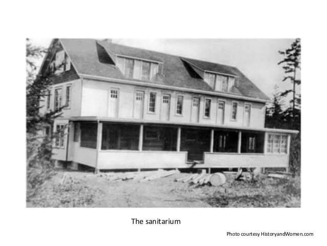 Starvation Heights Sanitarium - Photo courtesy of historyandwomen.com