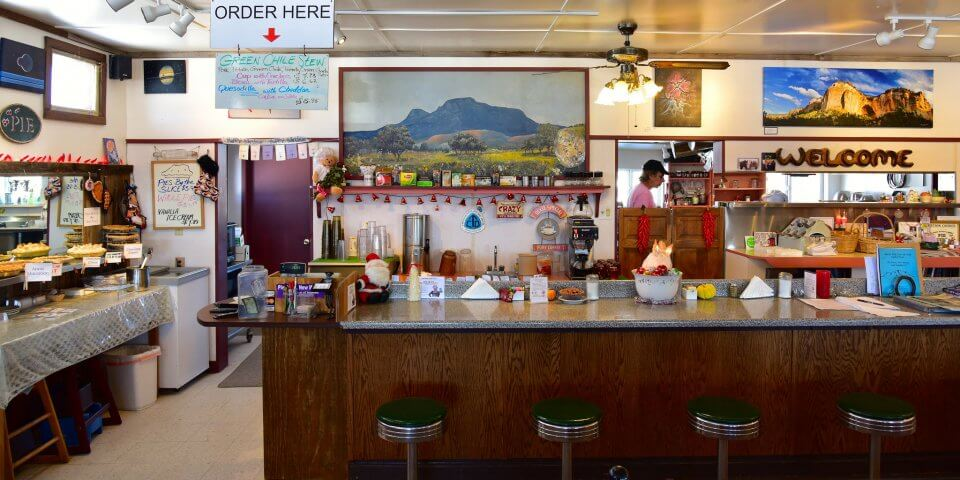"""Pei-O-Neer Cafe"" in Pie Town, New Mexico - Photo by Larry Lamsa"