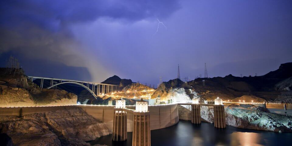 The Hoover Dam near Boulder City, Nevada/Arizona - Photo by Dan Sorenson