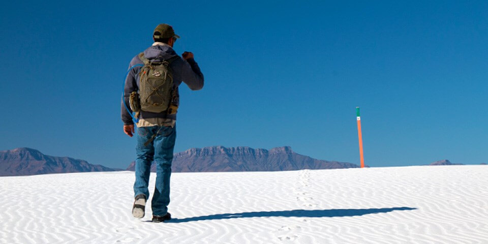 Hiking the Alkali Flat Trail at White Sands - Photo by nps.gov