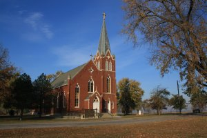 The Immaculate Conception Church is a beautiful historic place to visit when looking for things to do in Illinois.