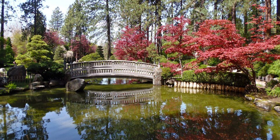Nishinomiya Japanese Garden in Spokane, Washington - Photo by gregorio8055