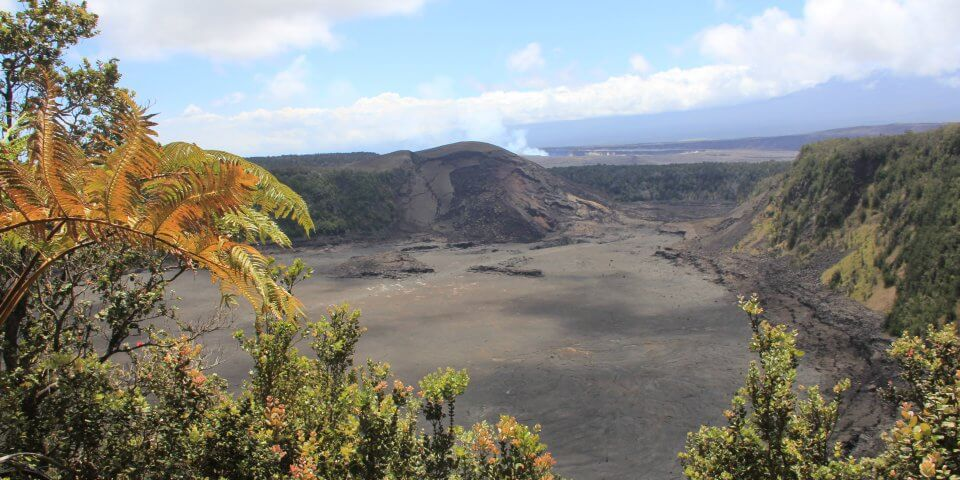 Kilauea Iki volcano on the Big Island of Hawaii. The fact is, this is the most active volcano in the world.