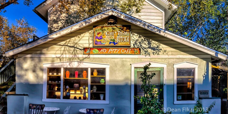 """The """"No Pity"""" cafe in Madrid, New Mexico - Photo by Dean Fikar"""