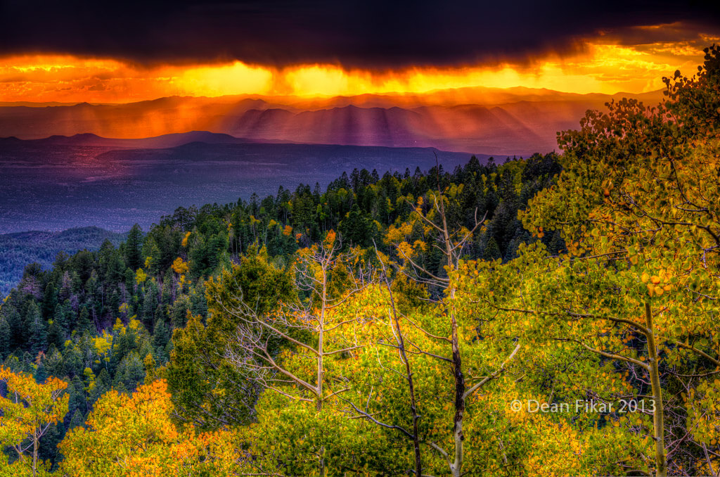 Fall sunset in Santa Fe, New Mexico - Photo by Dean Fikar