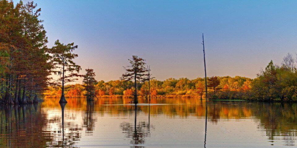 Harrell Lake in Union Parish - Photo by finchlake2000