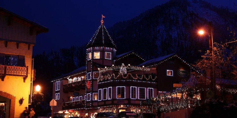Leavenworth, Washington during the Christmas Lighting Festival - Photo by J.L. Cummins