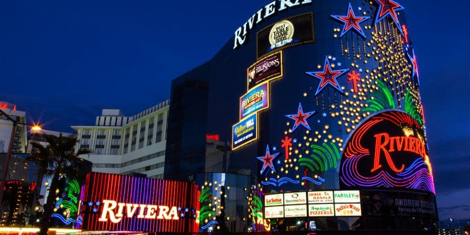 The haunted lights of the Riviera Hotel And Casino in Las Vegas, Nevada - Photo by James Marvin Phelps