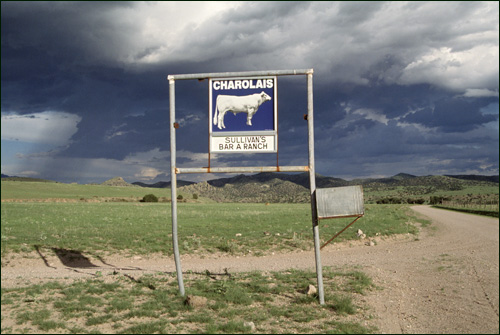 Ranch sign in Dusty, New Mexico - Photo by Jack Parsons