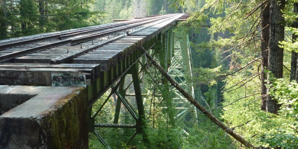 Vance Creek Bridge in Shelton, Washington - Photo by Dog Walks Girl