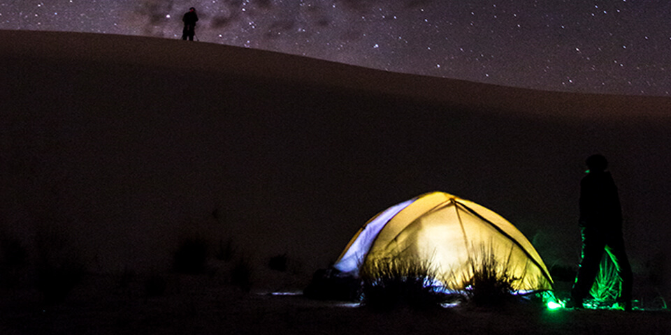 Backcountry camping at White Sands National Monument - Photo by nps.gov