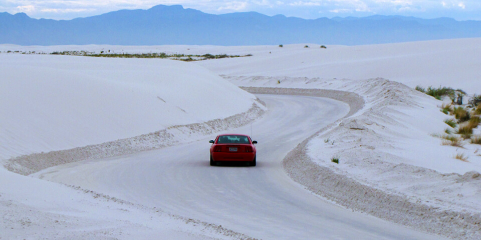 Dunes Drive in White Sands - Photo by nps.gov