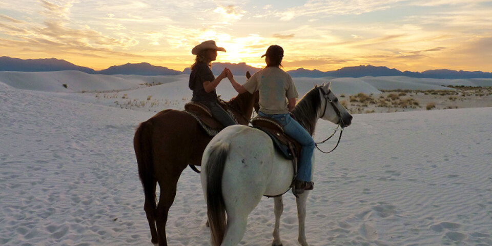 Horseback riding in White Sands - Photo courtesy of nps.gov