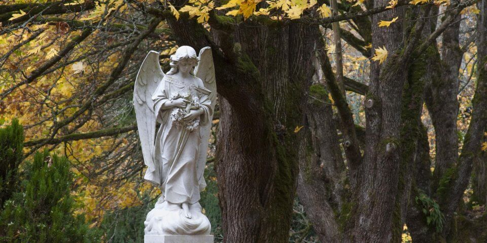 A very famous statue in the Bayview Cemetery in Bellingham, Washington - Photo by Jolene Hanson