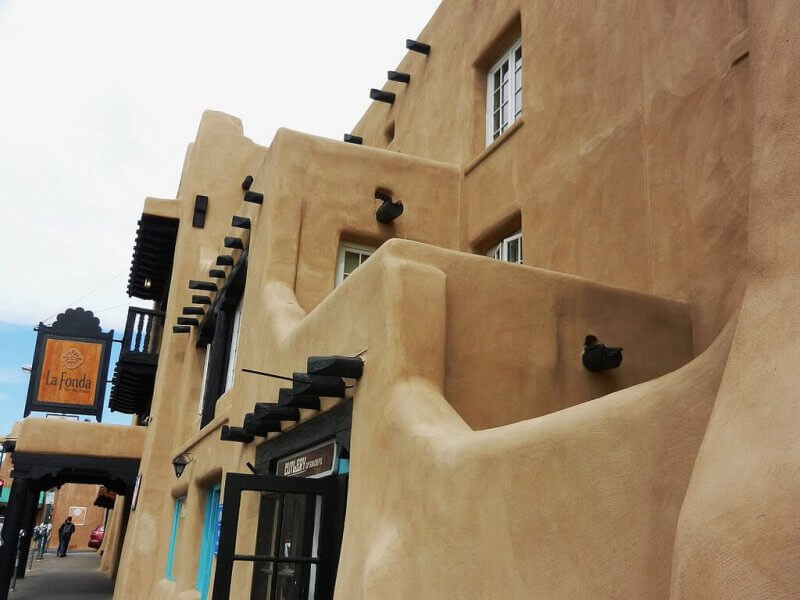 La Fonda Hotel in Santa Fe, New Mexico.  One of the haunted places in New Mexico. Photo by Randy Stewart