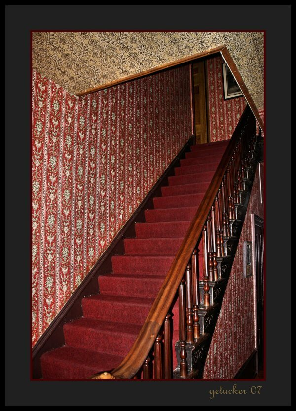 The St. James Hotel stairwell.  One of the haunted places in New Mexico. Photo by Gary Tucker