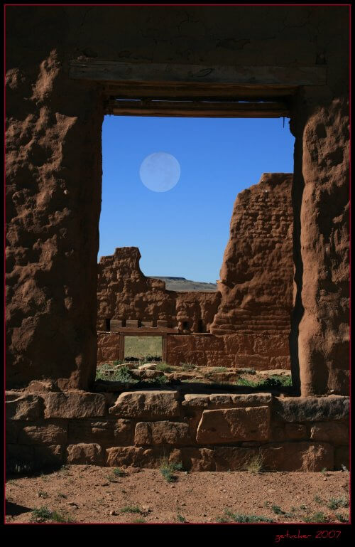 Fort Union National Monument, New Mexico. One of the original haunted places in New Mexico.  Photo by Gary Tucker