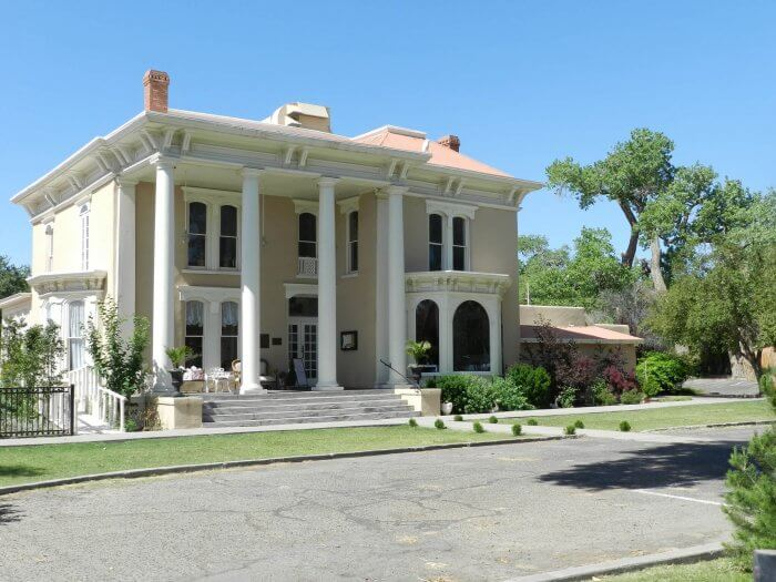 Luna-Otero Mansion in Los Lunas, New Mexico.  One of the haunted places in New Mexico. Photo by Graham Tiller