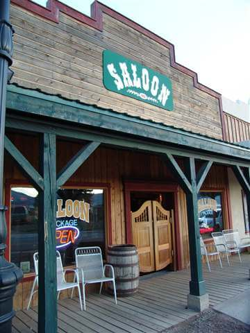 Laguna Vista Saloon in Eagle Nest, New Mexico.  One of the haunted places in New Mexico.