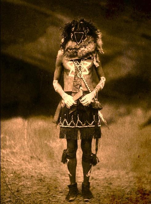 A famous depiction of a skinwalker