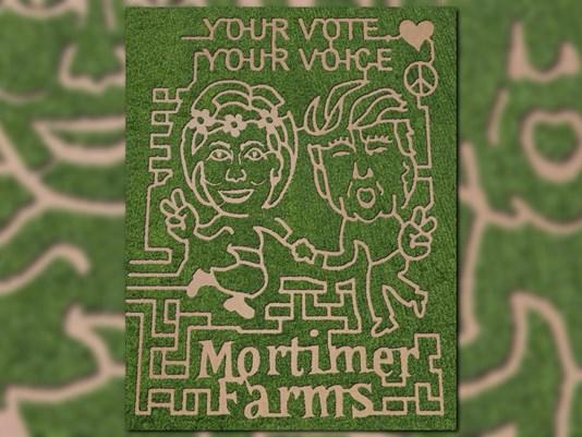 The 2016 corn maze at Mortimer Family Farms in Dewey, Arizona