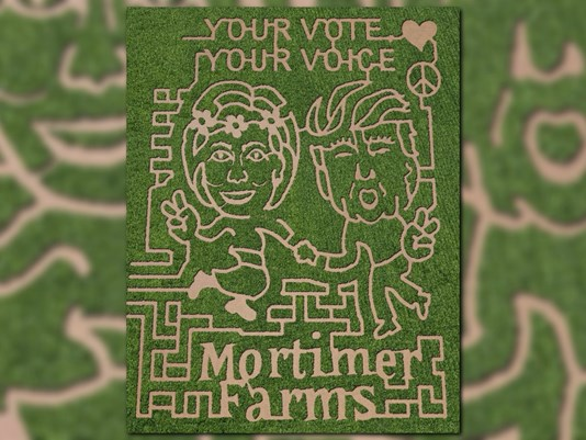 The 2016 corn maze at Mortimer Family Farms in Dewey, Arizona