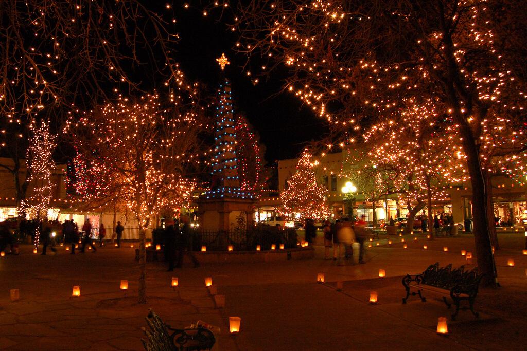 Santa Fe Plaza - Photo by Larry Lamsa