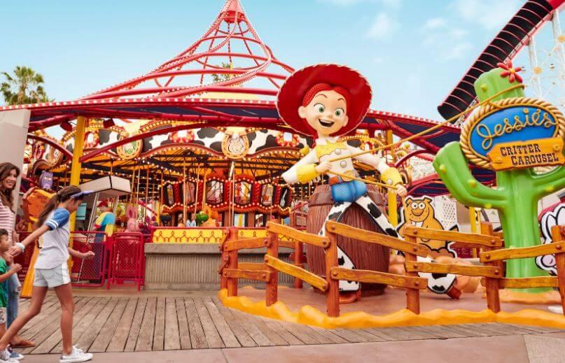 Disneyland California - Jessie's Critter Carousel